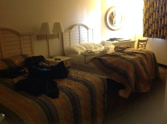 3rd Bedroom: Angle Condo (didn't take my 17yr old son to make himself comfy here)