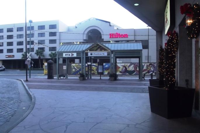 Convenient RTA Riverfront Trolley line stop at Hilton Riverside.
