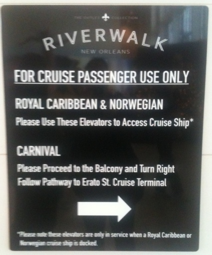 Royal Caribbean and Norwegian share a Cruise port. Carnival uses a seperate but closeby terminal.